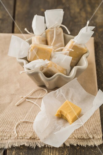 Homemade toffees as a gift
