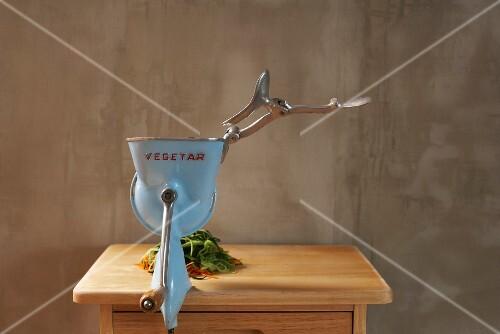 A vegetable chopper