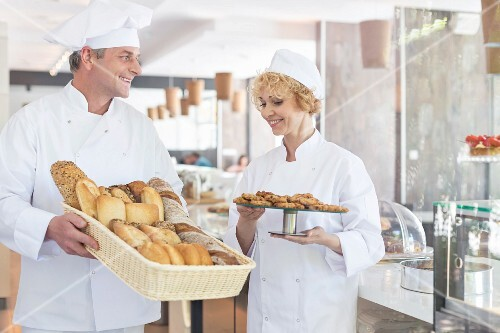 Confectioners in a bakery