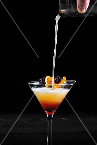 A vodka Martini with orange juice
