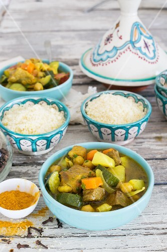Moroccan lamb tagine with couscous