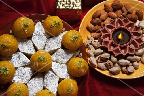 Indian sweets and nuts