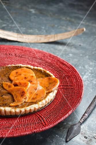 Sweet potato tart with cinnamon