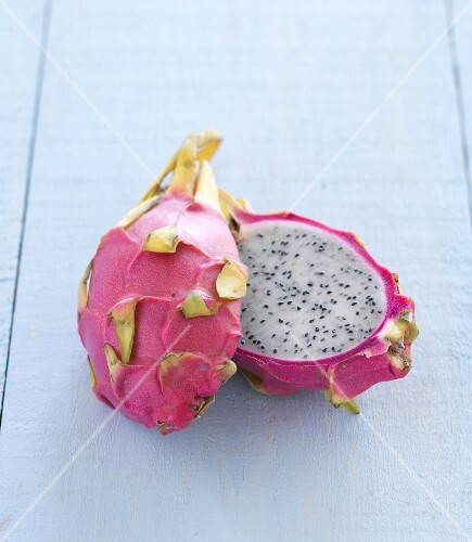 A sliced open pitaya