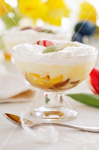 Exotic fruit trifle