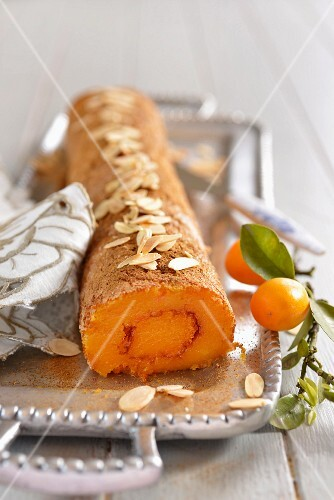 Carrot and orange roulade with flaked almond (Portugal)