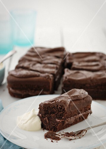 Chocolate cake for afternoon tea