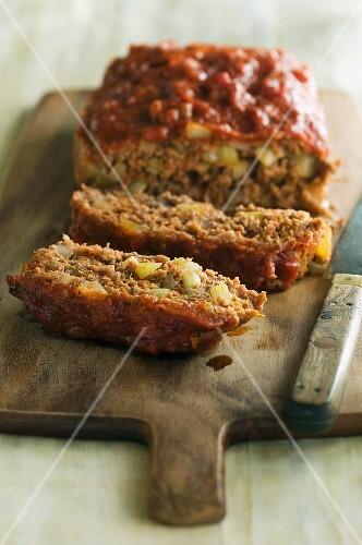 Sliced meat loaf