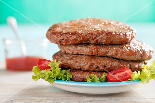 A stack of burgers