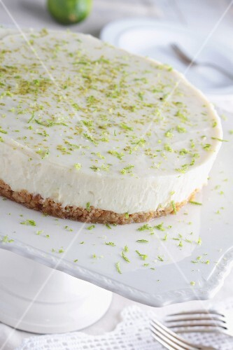 Key Lime Pie with lime zest