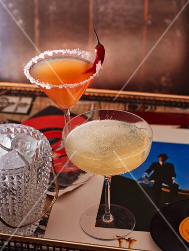 Two cocktails: Riders on the Storm, Shine On You Crazy Diamond