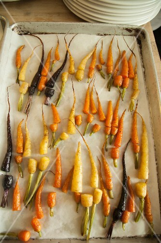 Oven-roasted carrots