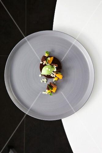Felchlin 'JAVA' chocolate with mandarins, sorrel and iced yuzu