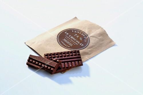 A bar of chocolate (Alain Ducasse)