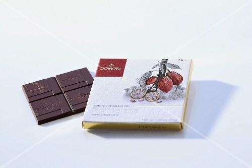 A bar of chocolate (Domori Porcelana)