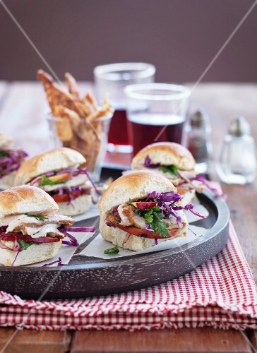 Pork and red cabbage sliders