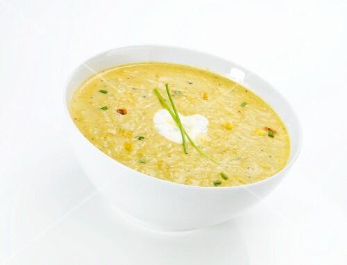 Creamy sweetcorn soup