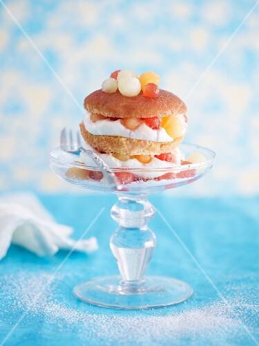 A summer melon cupcake