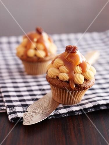 Caramel butter cupcakes