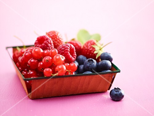 A dish of fresh summer berries