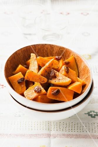 Sweet potatoes with raisins