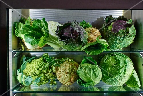 Cabbages, leafy greens and root vegetables
