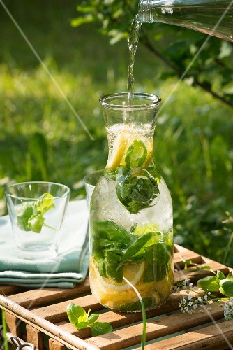 Lemon and basil lemonade