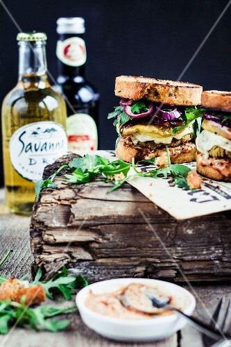 Savoury falafel sandwiches