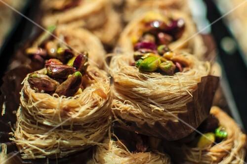 Baklava nests with pistachios (Arabia)