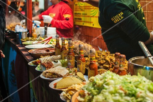 A Mexican street food stand