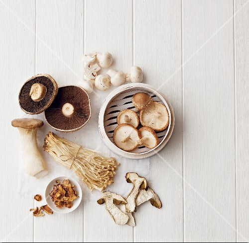 Mushrooms, fresh and dried