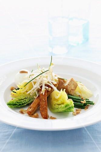 Gado Gado (vegetable salad with eggs and tofu, Indonesia)