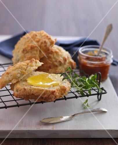 Ham scones with Ceddar cheese