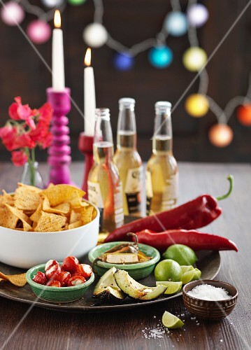 A Mexican snack platter