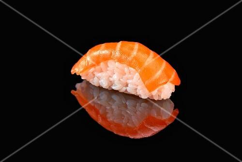 A nigiri sushi with salmon