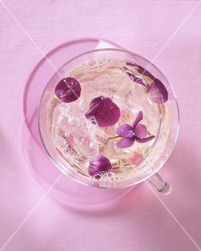 Violet flower punch