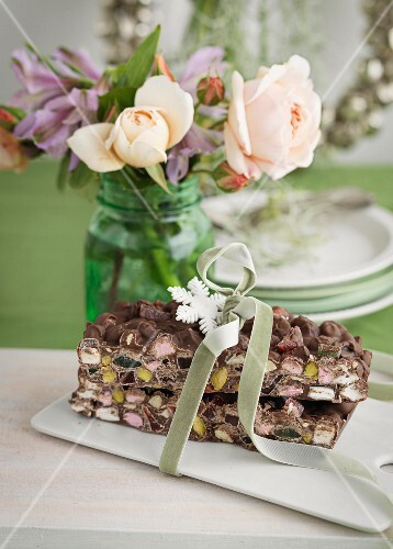 Rocky Road bars as a Christmas present