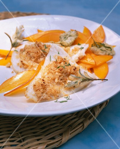 Brill with a honey-nut crust