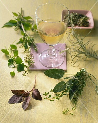 Various herbs for drinks