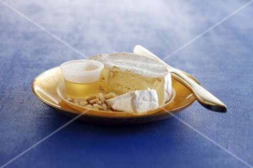 Sliced Camembert on a plate