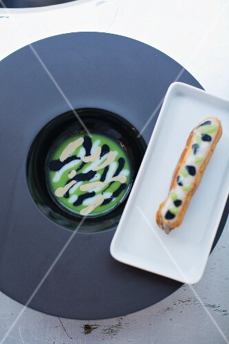 Sardines with olive soup