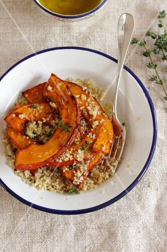 Quinoa salad with roasted pumpkin