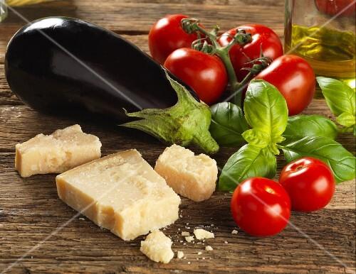 Ingredients for Sicilliana pasta sauce