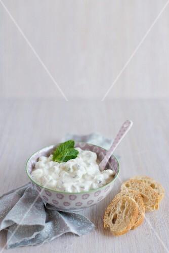 Tzatziki with goat's cream cheese