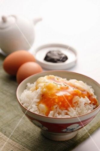Tamago Gohan (rice with raw egg, Japan)