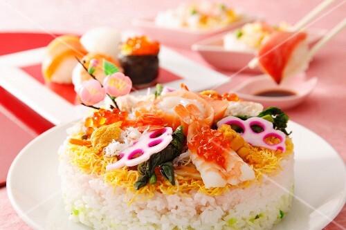 Chirashi sushi (Japan)