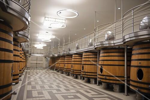 A fermentation cellar at Chateau Pavie (St-Emilion, Bordeaux, France)
