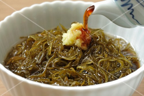 Gagome seaweed with soy sauce (Japan)