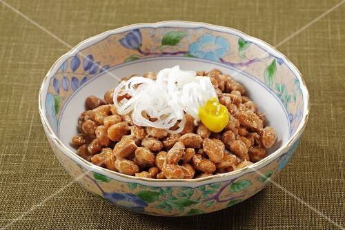 Natto (fermented soya beans, Japan)