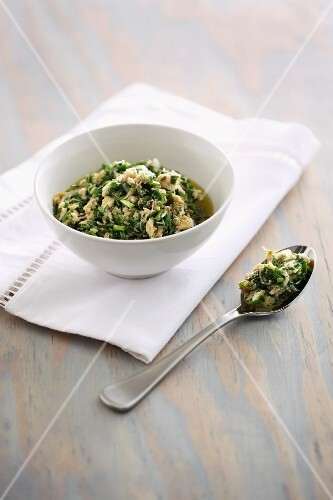 Tuna fish salad with fresh herbs